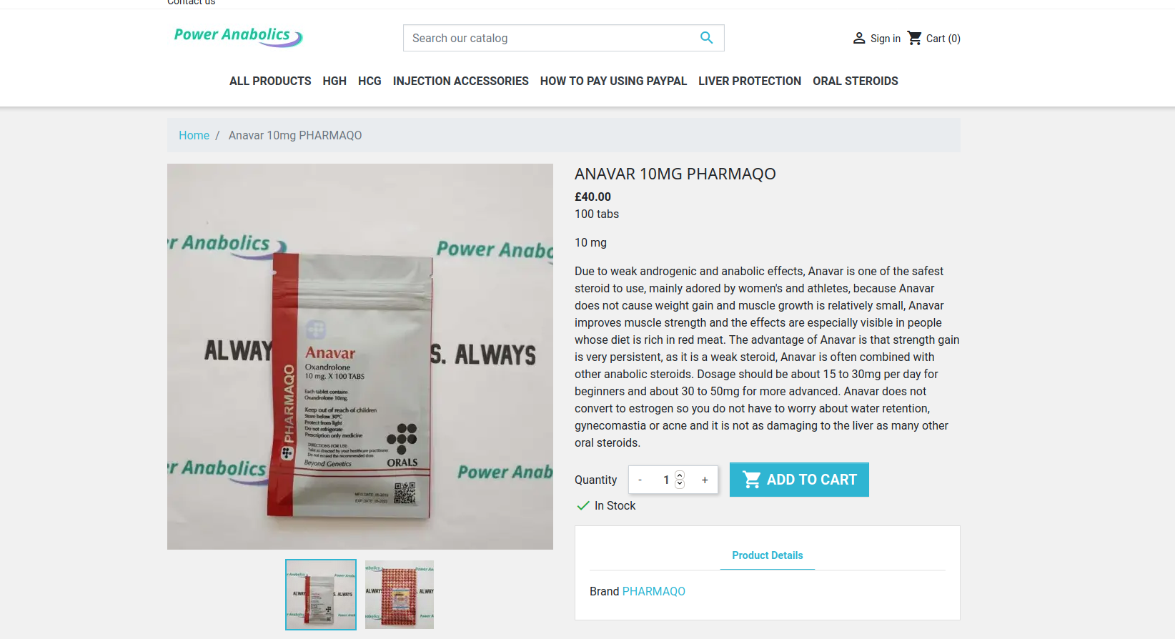 Anavar 50mg for sale UK